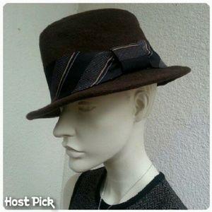 Vintage Accessories - 🎈 2x HP  Brown Wool 'Grace Hats'