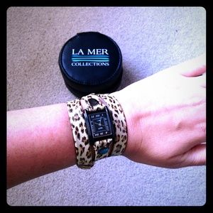 La Mer Collections Leopard Print Watch Wrap