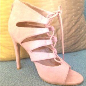 96633f8fc71c60 Michael Antonio Shoes - Michael Antonio Jacqueline Lace Up Pink Blush Heel