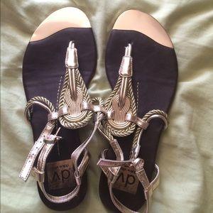 Dolce Vita gold strap sandal