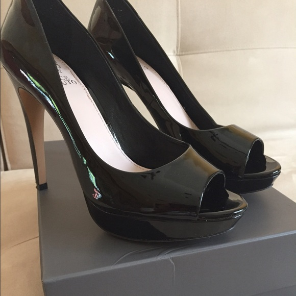 f1331df0a5 Vince Camuto Shoes | Black Patent Leather Peep Toe Pumps | Poshmark