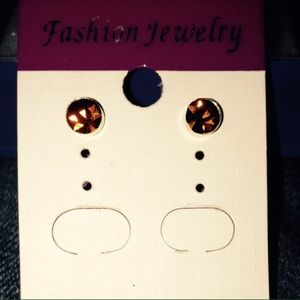 Jewelry - 🌟 Brand New Crystal Gold Plated Stud Earrings!!!