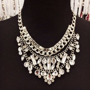 Jewelry - Silver and Crystal Necklace