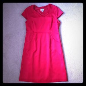 Merona Dresses & Skirts - Red Cap Sleeved Dress with Pockets