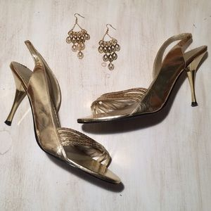Shoes - Beautiful Gold Sequin Heels