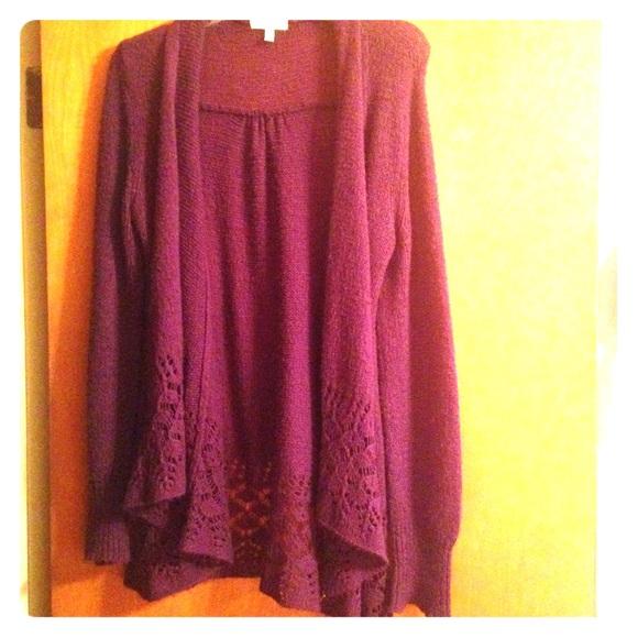 Delias Open Cardigan In Purple 💜