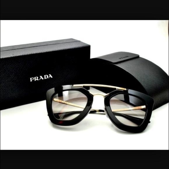 b37e75414183 PRADA Cinema 49mm Retro Sunglasses NEW BLACK