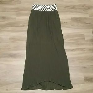 Green maxi skirt, anthropologie