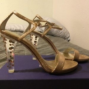 Stuart Weitzman Glittony glitter heels