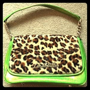 Lime green sparkle Lux de Ville purse