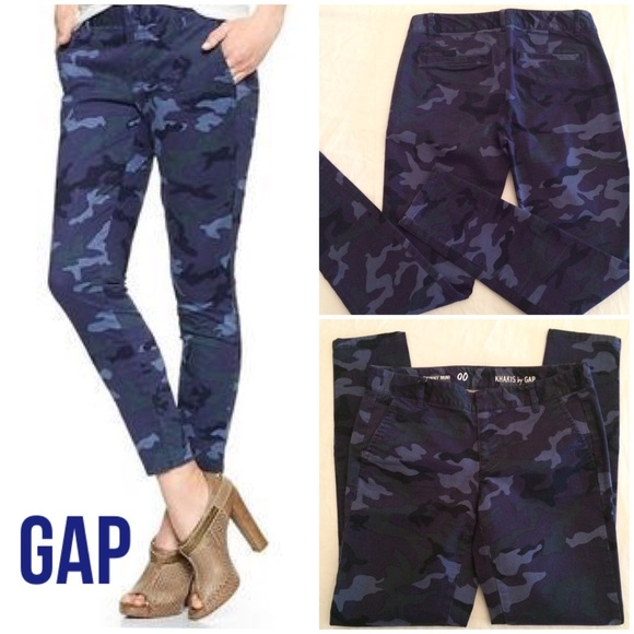 NWT Khakis by Gap Womens Grey Camo Skinny Mini Pants-Size 20