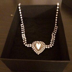 Host pick Vintage heart /rhinestone necklace