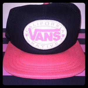 e9b8f370 Vans Accessories | Black Pink California Native Snapback Hat | Poshmark