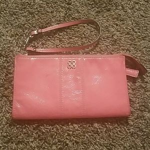 Pink Patent Coach Zippy Wallet
