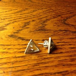 Juicy Couture pyramid stud triangle earrings