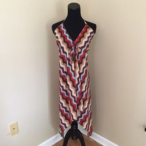 Other - NEW Chevron Tie-Halter Swimsuit Beach Cover Up