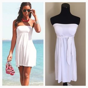 Other - NEW Multi-Way Swimsuit Beach Cover Up in White