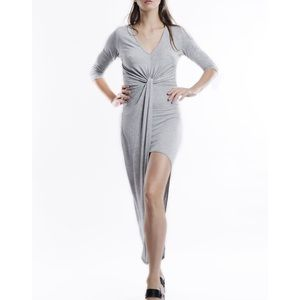 """The Grey Lady"" Asymmetrical Knot Front Dress"