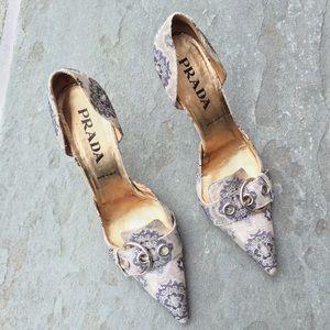 original prada bags on sale - 87% off Prada Shoes - Prada chunky heels, authentic ?SALE from ...