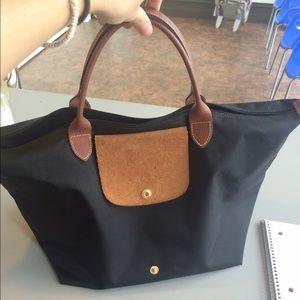 53aa33de99b Longchamp Bags | Le Pliage Medium Black Tote | Poshmark
