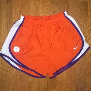 Clemson Nike dri-fit shorts
