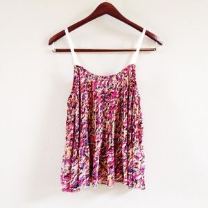 | new | floral pleated tank