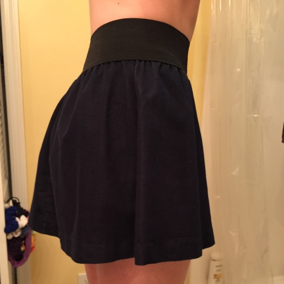50 dresses skirts navy blue high waisted skirt