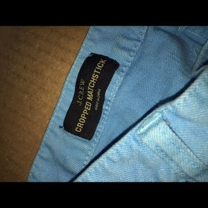Jcrew cropped match stick blue jeans