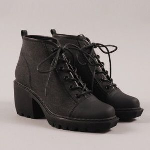 Opening Ceremony Canvas Grunge Booties