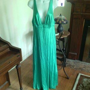 Vintage Vanity Fair Long Green Retro Nighty Gown