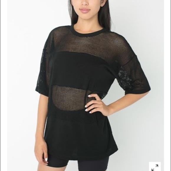 67 off american apparel tops american apparel unisex for American apparel mesh shirt