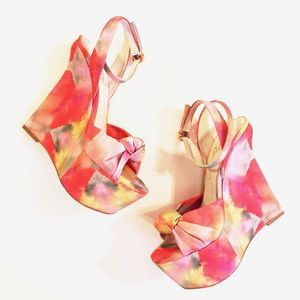 Alice + Olivia Shoes - New Alice + Olivia Watercolor Wedges