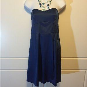 Silence + Noise Blue Strapless Dress