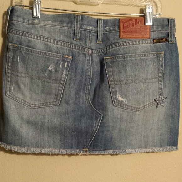 lucky brand jean skirt from janyl s closet on poshmark