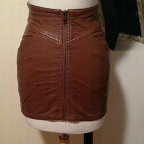Divided - ON HOLD H&M Divided Faux Leather Zip Front Skirt from ...