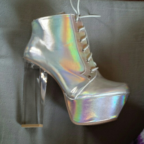 48d953c464 Qupid Shoes | New Monte01x Holographic Ankle Boot Size 9 | Poshmark