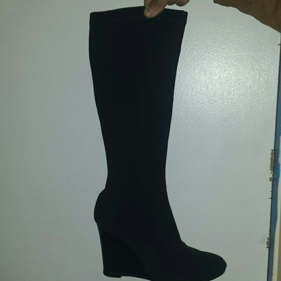 77 charles david shoes stretchy skin tight black