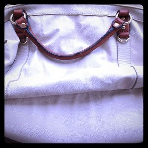 Beautiful Melie Bianco large white leather handbag