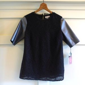 Macy's Tops - = Nicole Richie for impulse Lace black top NWT=