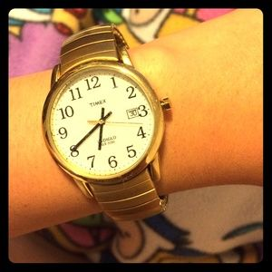 Retro gold Timex watch
