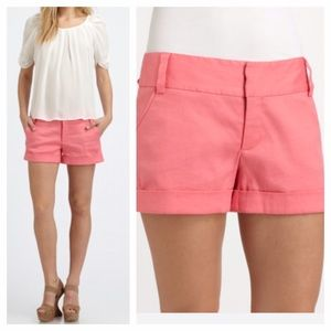 Alice + Olivia Pink Cady Cuff Shorts