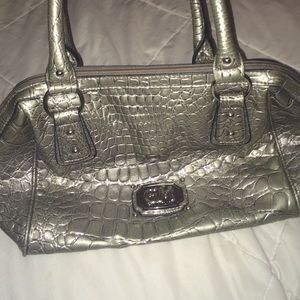 Gia Milani Handbags - Gia Milani dark grey leather purse.
