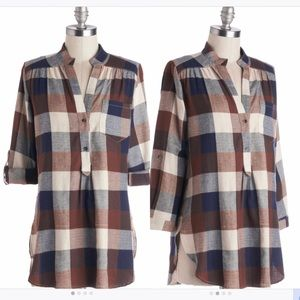 Bonfire Plaid Tunic
