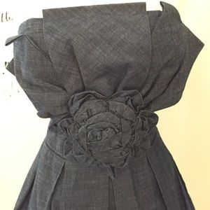 Romeo & Juliet Couture Dresses - Denim strapless bubble mini dress 😍 Sz M