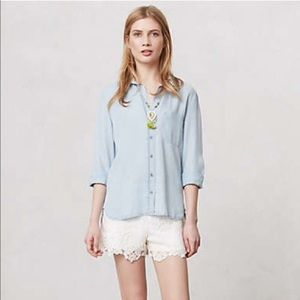 Anthropologie Cloth and Stone Chambray Tencel