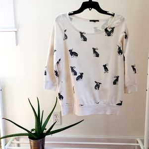 Urban Outfitters Sweaters - Rabbit print sweatshirt from Urban Outfitters