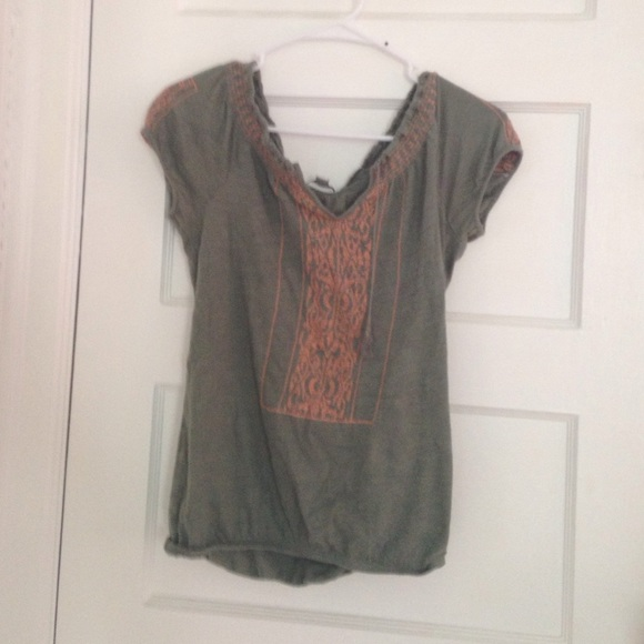 50 Off American Eagle Outfitters Tops Flowy Boho Shirt