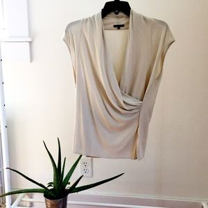 Theory Tops - Taupe Draped Theory Tank