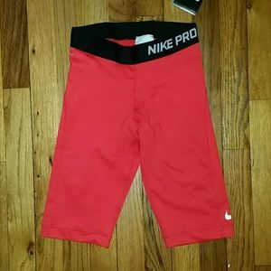 Nike Pro Red Long Shorts XS - NWT