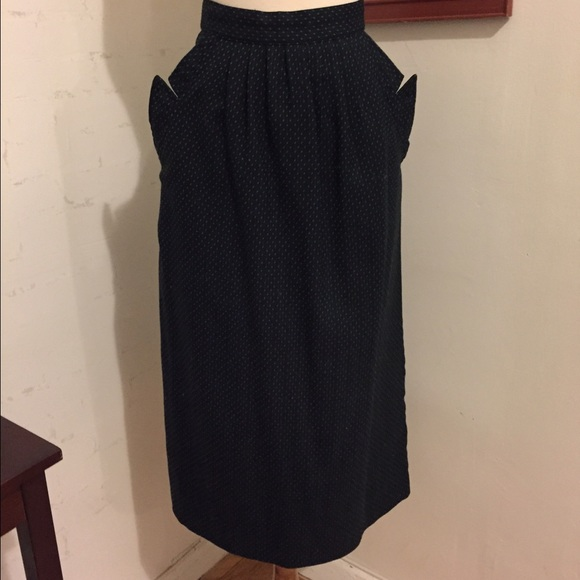 vintage vintage navy high waisted skirt from jackie s